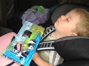 toddler napping in car seat