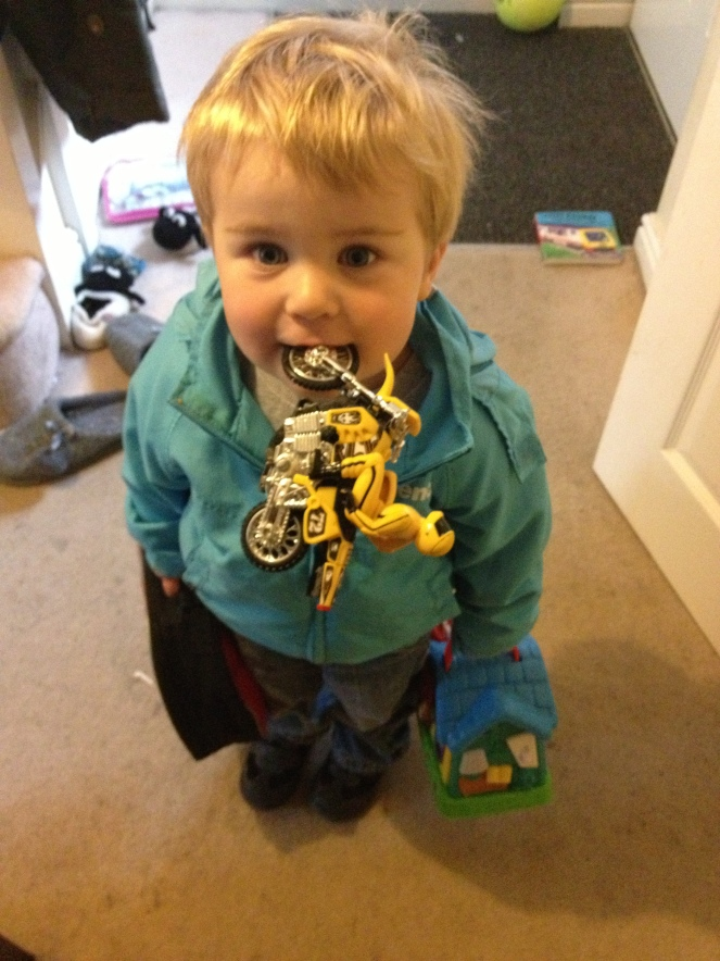 toddler lunch box and motorbike
