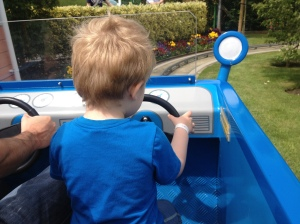 toddler driving car