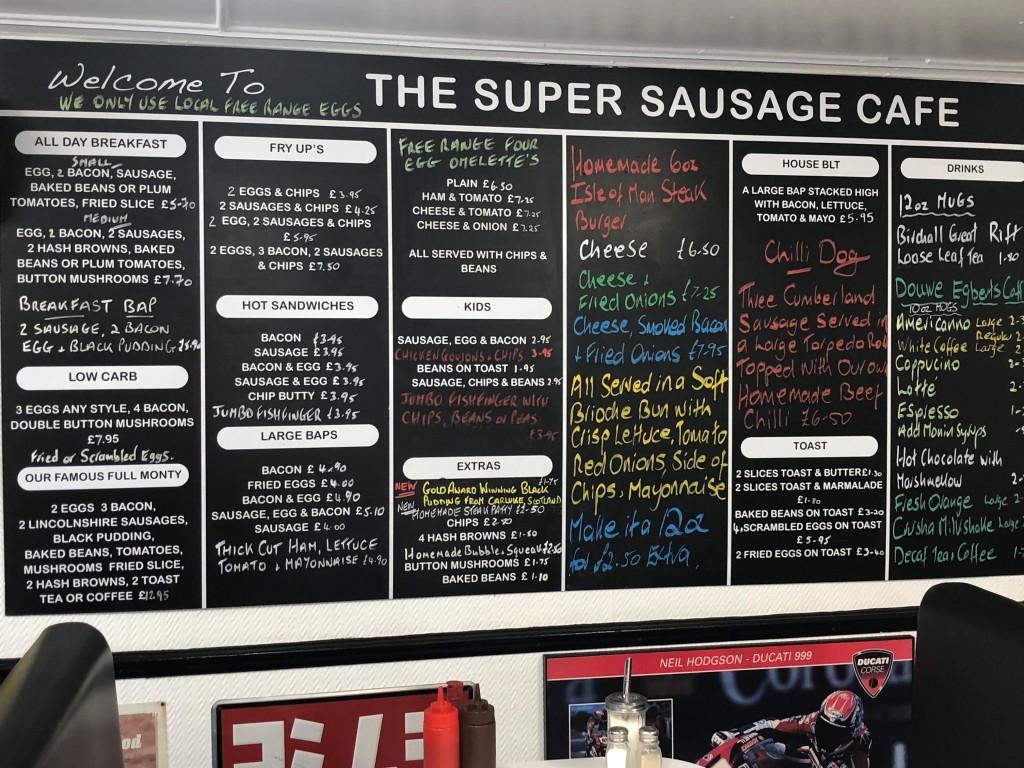 super sausage cafe menu